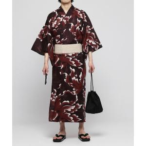 浴衣 金魚模様浴衣(YUKATA)五点セット 〜ワンタッチ帯タイプの画像