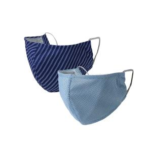 ボディケア UVカットウォータークールマスク2枚セット 冷感マスク L(ふつう)/S(小さめ)