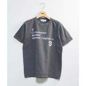 tシャツ Tシャツ 【別注反応染】HOLLYWOOD L.A.13半袖Tシャツ