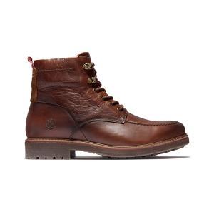 ブーツ メンズ オークロック ウォータープルーフ ブーツ - ミディアムブラウン