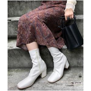 ブーツ 【PUBLUX/パブリュクス】スクエアトゥブーツ/センターシームショートブーツ/ミドルブーツ