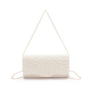 バッグ クラッチバッグ 【結婚式・およばれ】パールかぶせクラッチバッグ