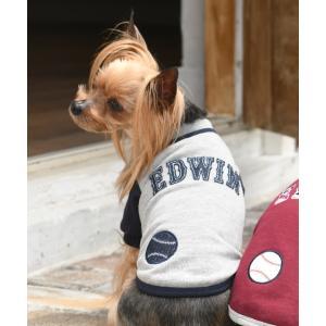 ペット EDWIN/エドウイン/ベースボールスウェット/犬服(ドッグウェア)|ZOZOTOWN PayPayモール店