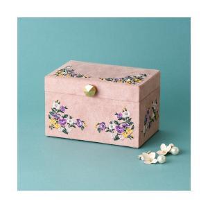 収納ボックス エンブロイダリー ジュエリーボックス S ピンク
