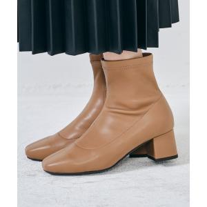 ブーツ スプリングスムースストレッチヒールブーツ/1416