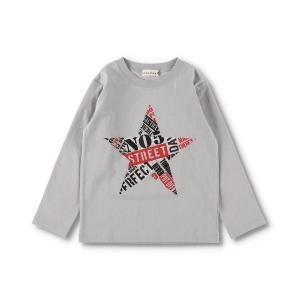 tシャツ Tシャツ 星プリント長袖Tシャツ