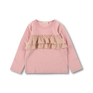 tシャツ Tシャツ 2段フリル長袖Tシャツ