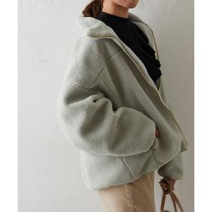 ジャケット ブルゾン 【追加販売・新色追加】キレイメボアスタンドブルゾン《WEB限定カラー有り》