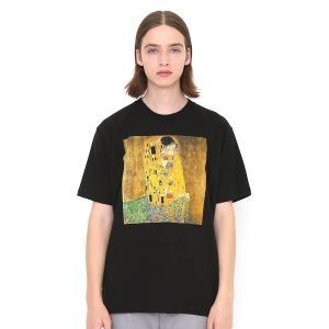 tシャツ Tシャツ コラボレーションTシャツ/The Kiss(クリムト)(ブラック)