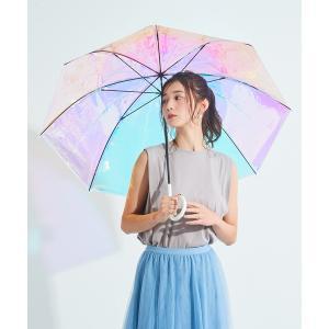 傘 雨傘 ビニール傘 オーロラビニール傘(手開き)