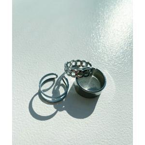 指輪 3セットフリーサイズリング|ZOZOTOWN PayPayモール店