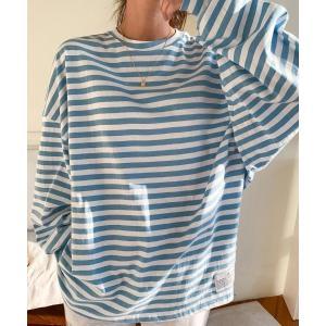 tシャツ Tシャツ NANING9(ナンニング)カジュアルストライプ長袖Tシャツ