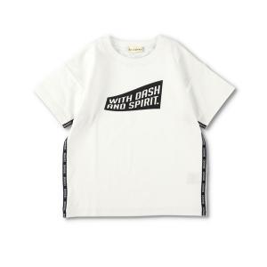 tシャツ Tシャツ サイドロゴテープ半袖Tシャツ