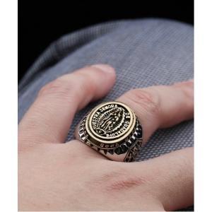 指輪 【14 BURNER SELECT】マリアプレート デザイン ビッグリング