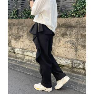 パンツ スラックス 【AVIE定番】フリルパンツ
