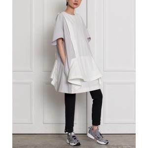 チュニック ペプラムサックドレス