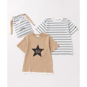 tシャツ Tシャツ 【プチプラ】巾着付き半袖Tシャツ2Pセット