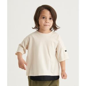 tシャツ Tシャツ 【プチプラ】半袖レイヤード風ビッグTシャツ