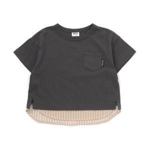 tシャツ Tシャツ 【WEB限定】布帛切替Tシャツ