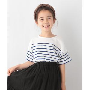 tシャツ Tシャツ 【キッズ】シャーベッTEE/パネルボーダー半袖/950235