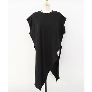 tシャツ Tシャツ NANING9(ナンニング)アシンメトリーデザインロングTシャツ
