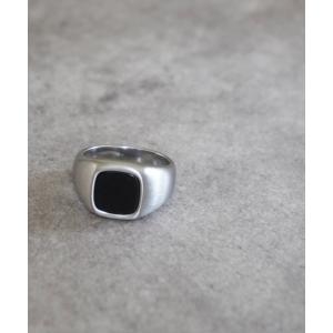 指輪 【dictionary】オニキス スクエア リング/メンズ|ZOZOTOWN PayPayモール店