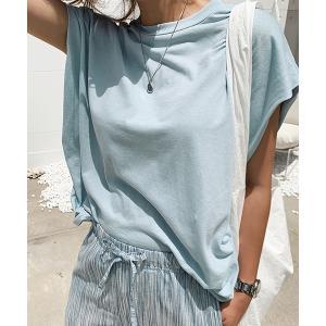 tシャツ Tシャツ NANING9(ナンニング)フレンチ袖ゆるTシャツ