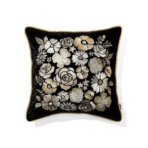 クッション クッションカバー ANNA SUI クッションカバー フラワー  450×450 ブラック×ゴールド|ZOZOTOWN PayPayモール店