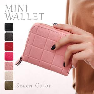 ミニ財布 二つ折り財布 レディース 折り畳み 小銭入れ  財布 手のひらサイズ 可愛い コンパクト カード コインケース ラウンドファスナー付きミニ財布