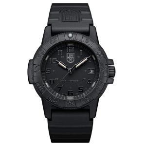 送料無料 ルミノックス LUMINOX 腕時計 レザーバック シータートル 0300シリーズ ブラックアウト 0301.BO.L メンズ|zumi