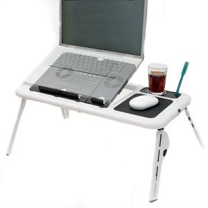 PCテーブル PCデスク 折りたたみ式 冷却 パソコンテーブル 冷却ファン zumi
