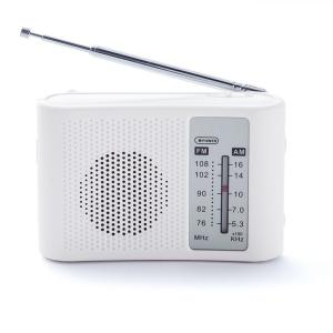 ポケットラジオ 電池式 スピーカー付ラジオ AM FM 防災 FM補完放送 手のひらサイズ|zumi