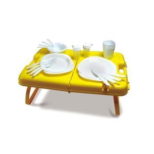ピクニックテーブル 27点セット キャンプ 運動会 折りたたみ式 専用ケース付き 持ち運び楽々 アウトドア OUTDOOR MAN zumi
