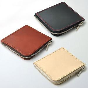 コインケース 小銭入れ  高級牛革 メンズ財布 IMPALA インパラ 300 ヌメ革使用 Lファスナコインケース|zumi