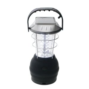 5WAY 充電式 36灯LED ランタン ソーラー・手回し・AC・DC・電池 5通り電源|zumi