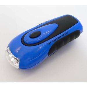 LED3灯ハンドル充電式ダイナモ ハンディライト  |zumi
