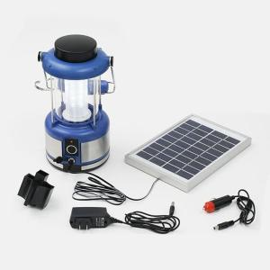 充電用ソーラーパネル付き LED36灯ランタン|zumi