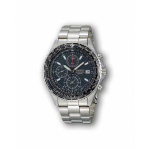 SEIKO セイコー 腕時計 SND253P1 メンズ 海外モデル クオーツ クロノグラフ ブラック|zumi