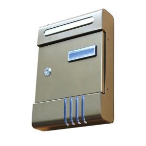 郵便ポスト(鍵付き) コンパクトな郵便受け 送料無料 Mail BOX 壁掛けタイプ ゴールド post|zumi