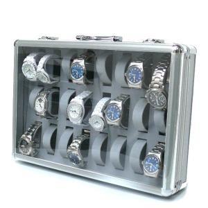 腕時計ケース 時計収納 コレクション 24本収納 アルミ 鍵付き|zumi