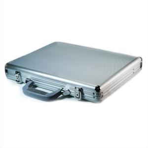 アタッシュケース アルミ B4 薄型 ビジネスバッグ 安いのに高品質 安価 シルバー【送料無料】|zumi