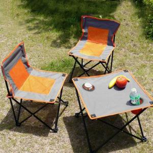 ドリンクホルダー付きコンパクト折りたたみ 机・椅子×2|zumi