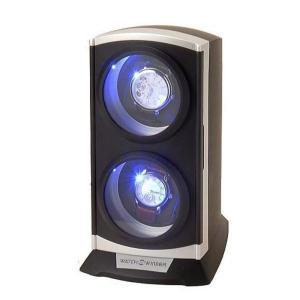ワインディングマシーン 2本巻き KA015BK LEDライト付 ワインディングマシン 自動巻き ウォッチワインダー zumi