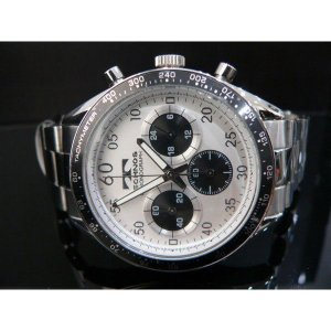 TECHNOS テクノス クロノグラフ 10気圧防水 腕時計シルバー/ブラック|zumi