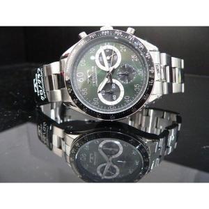 テクノス TECHNOS T2255SG クロノグラフ 10気圧防水 腕時計グリーン|zumi