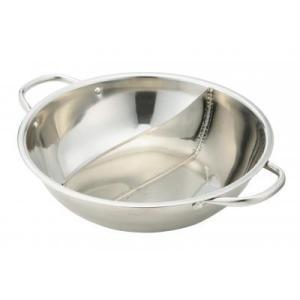 IH対応 よくばり二食鍋 二色鍋 28cm 2食鍋 仕切り鍋 人気 売れ筋 冬 1つの鍋で2つの料理|zumi