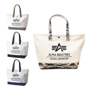 送料無料 ALPHA INDUSTRIES アルファインダストリーズ 帆布 トートバッグ 大容量 A4サイズ 大きめ 40105 デイバッグ キャンバス メンズ レディース|zumi