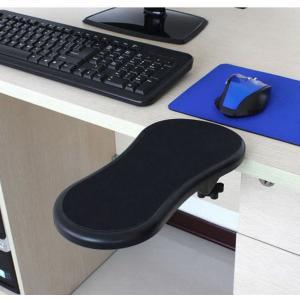 パソコン デスク用 アームレスト リストレスト ブラック 肘掛け 肘掛 ひじ掛け 肘置き 送料無料 180度回転|zumi