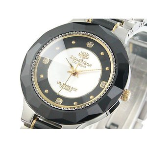 ジョン・ハリソン J.HARRISON セラミック ダイヤモンド シルバー クォーツ メンズ腕時計 CCM001BS|zumi