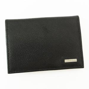 送料無料 Calvin Klein カルバンクライン カードケース 名刺入れ 79218 BK ブラック メンズ CK 父の日|zumi